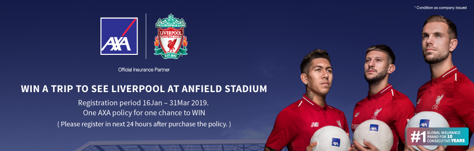 Win a trip to see LIVERPOOl at Anfield stadium
