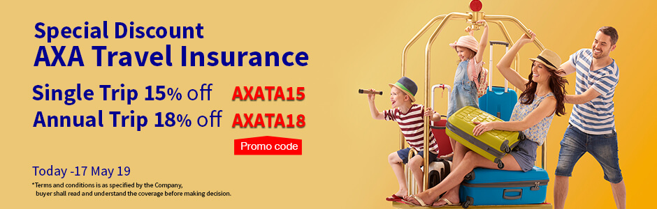 Special Discount AXA Travel Insurance