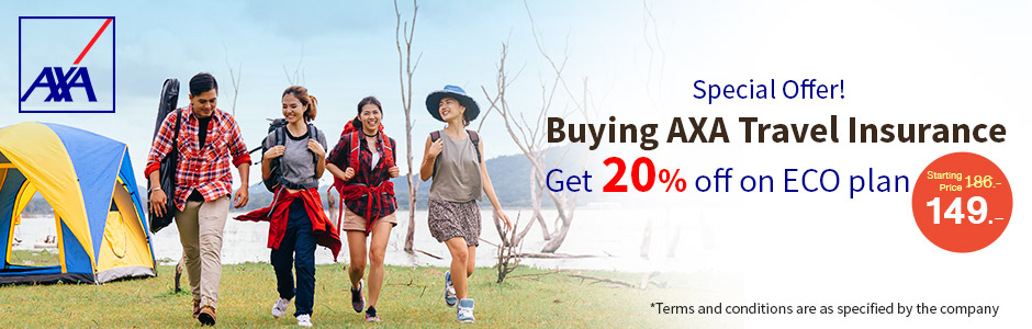 AXA Offers 20% Discount on Travel Insurance Purchased Online for Travelers To Be Worry-Free on Any Trips